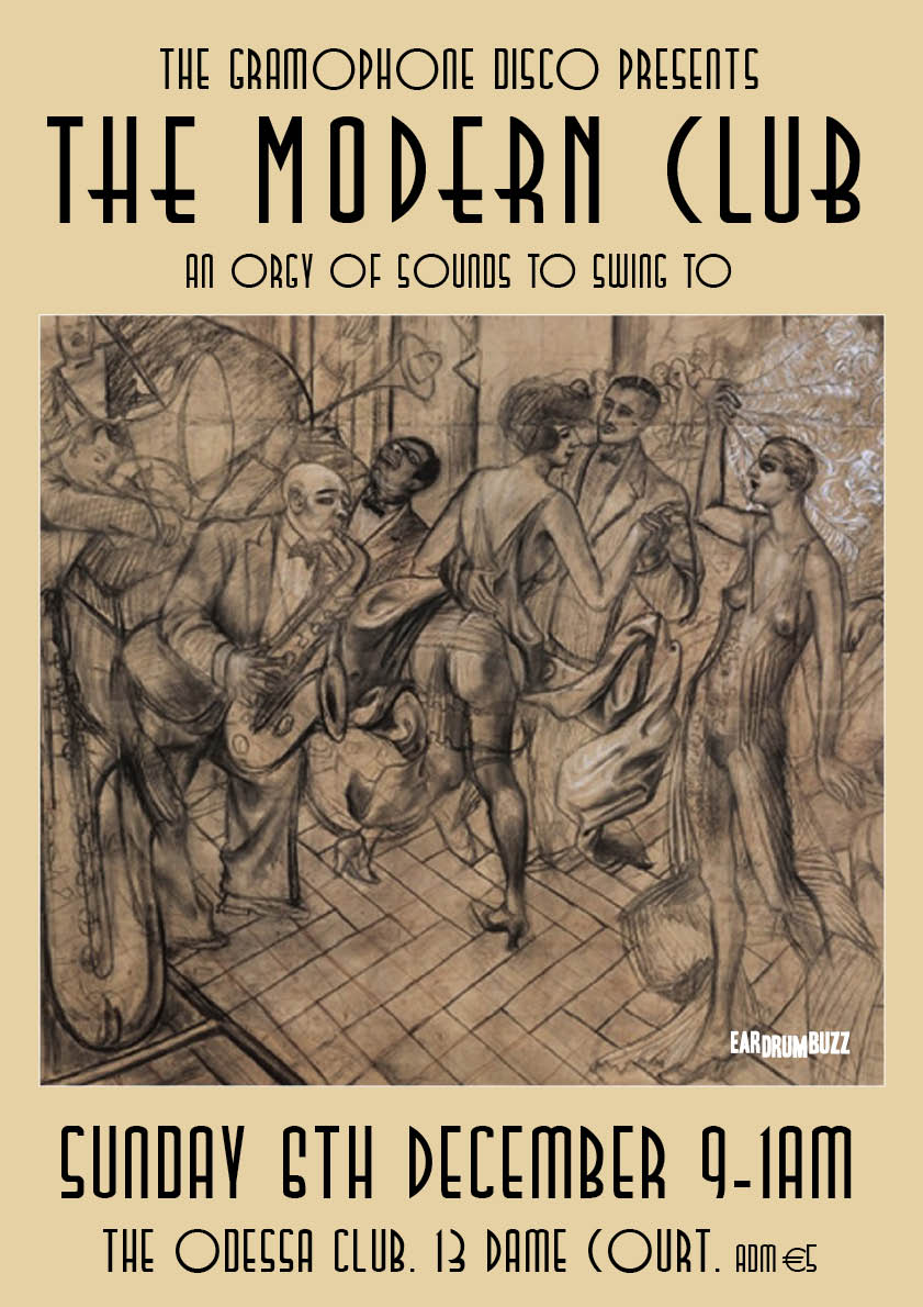 the modern club poster