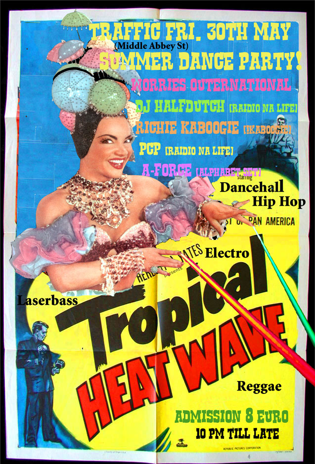 tropical heatwave fundraiser flyer