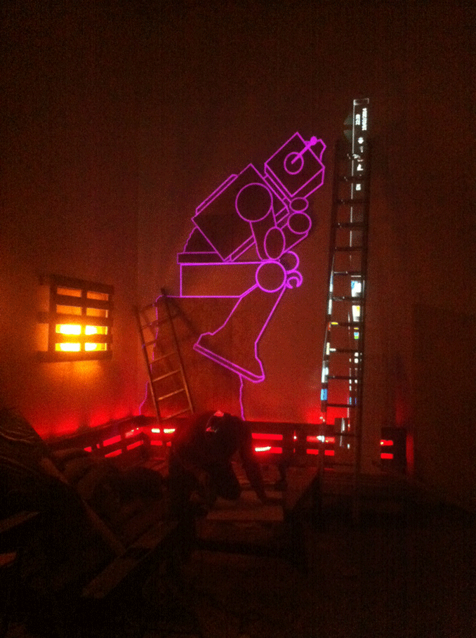 robot projection mapping still